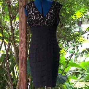 Kim Rogers | Black Lace Layered Dress